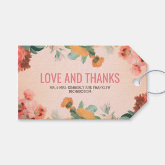 Floral Vintage Wedding Gift Tags
