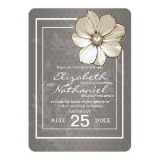 Floral Vintage Wedding Invitation