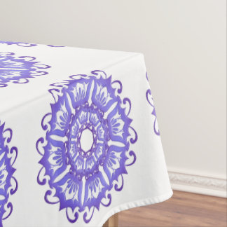 Floral violet mandala. tablecloth