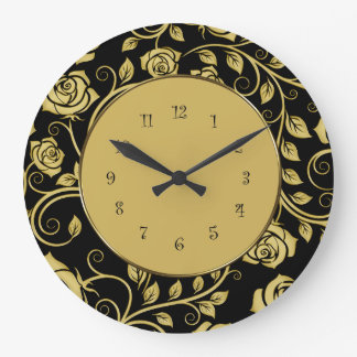 Floral Wall Decor Clock