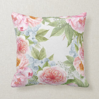 Floral water colour Pillow