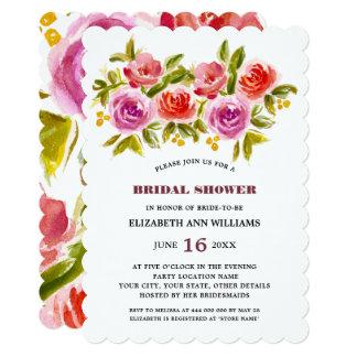 Floral Watercolor Bridal Shower Invitations
