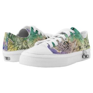 Floral Watercolor Sneakers
