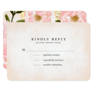 Floral Watercolor Wedding RSVP Cards