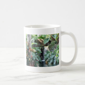 Floral Waterfall Basic White Mug