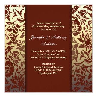floral wedding anniversary invitations