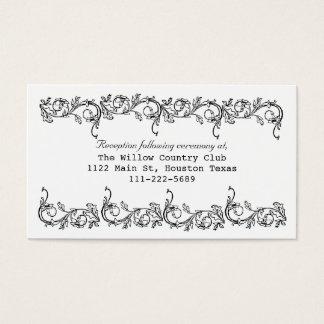 Floral Wedding Enclosure Cards