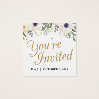 Floral Wedding Invitation Name Plate Cards