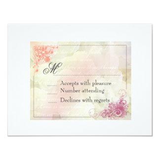 Floral Wedding Invitation Response card