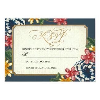Floral Wedding RSVP Insert Card