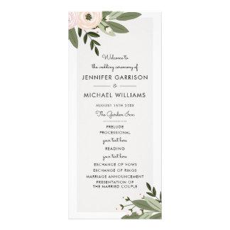 Floral Wedding Sprigs Program Rack Card