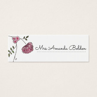 Floral wedding table place cards