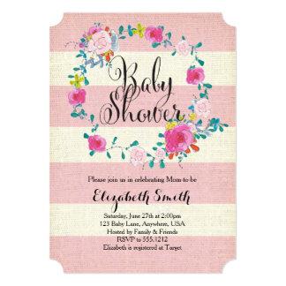 Floral Wreath Baby Shower Invitation