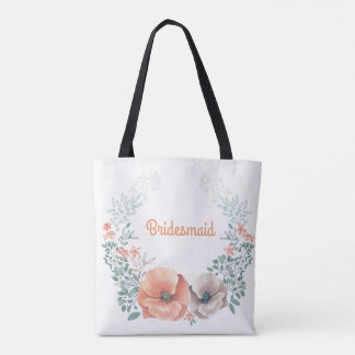Floral Wreath Bridesmaid Tote Bag