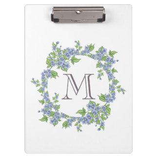 Floral Wreath Monogram Clipboard