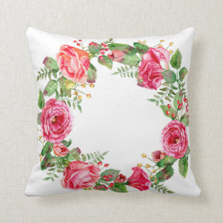 Floral Wreath Pillow