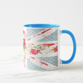 Florals & Polka Dots Union Jack British Flag Mug