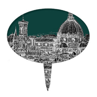 Florence architecture drawing cake pick