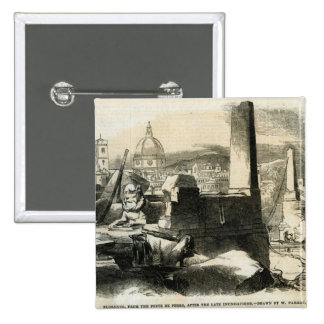 Florence, from the Ponte de Perro 15 Cm Square Badge