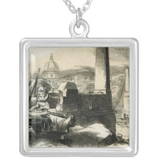 Florence, from the Ponte de Perro Silver Plated Necklace