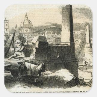 Florence, from the Ponte de Perro Square Sticker