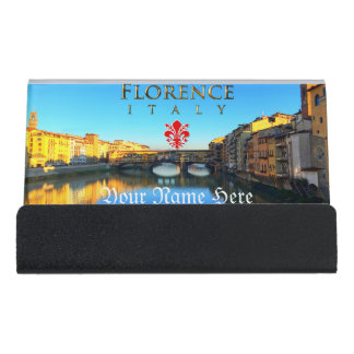 Florence - Ponte Vecchio Desk Business Card Holder
