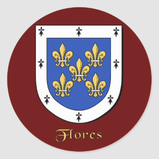 Flores Family Shield Stickers
