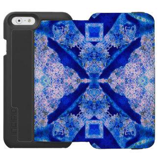 Florescent Blue Abstract Incipio Watson™ iPhone 6 Wallet Case