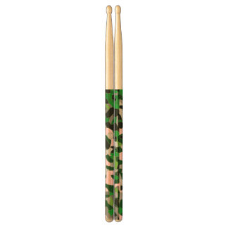 Florescent Green Grey Cheetah Abstract Drumsticks