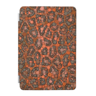Florescent Orange Grey Cheetah iPad Mini Cover