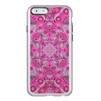 Florescent Pink Grey Abstract Incipio Feather® Shine iPhone 6 Case