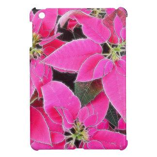 Florescent Pink Poinsettia iPad Mini Cases