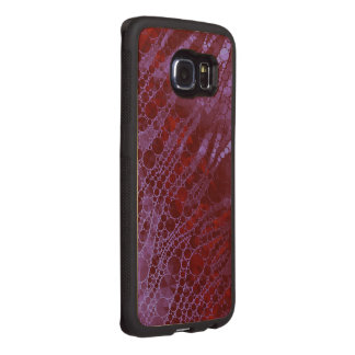 Florescent Pink Red Bling Zebra Abstract Wood Phone Case