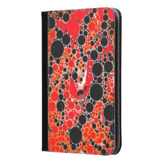 Florescent Red Orange Abstract iPad Mini Case