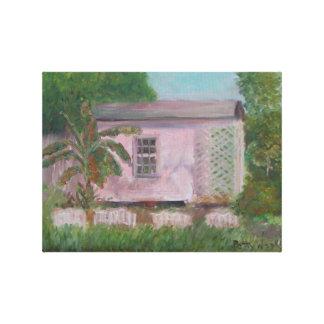 FLORIDA BACKYARD Canvas Print