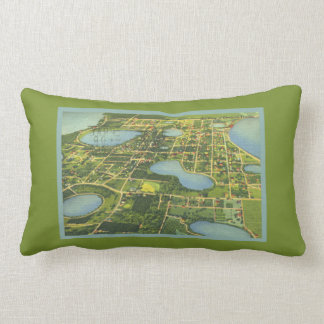 Florida Clermont Map Everglades From Above Lumbar Cushion