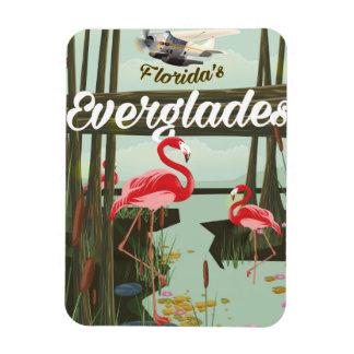 Florida Everglades cartoon travel poster Magnet