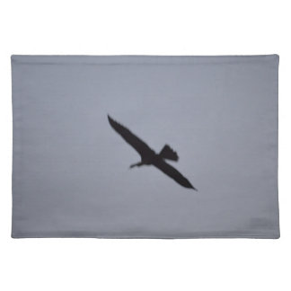 florida great white egret against sky shadow bird placemat