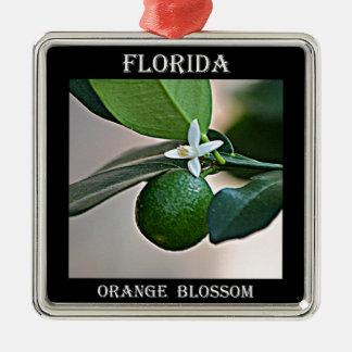 Florida Orange Blossom and small Orange Ornament