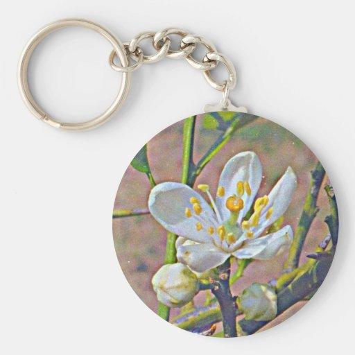 Florida Orange Blossom Key Chain