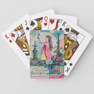 Florida water vintage perfume ad victorian deco playing cards