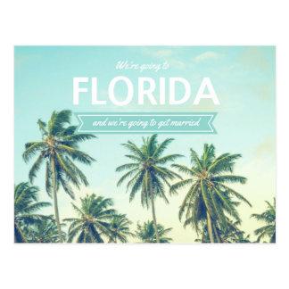 Florida Wedding Tropical Beach Save the Dates Postcard