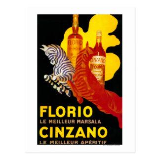 Florio Cinzano Vintage PosterEurope Postcard