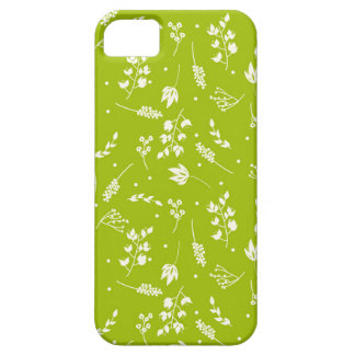 Floriography Lime and Cream Phone Case