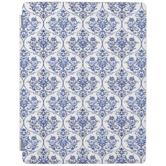 Flourish Damask Pattern - blue iPad Cover