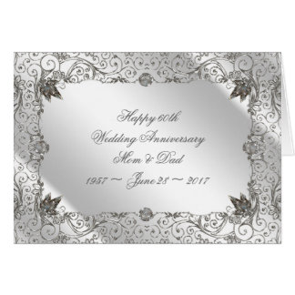 Flourish Diamond 60th Anniversary Greeting Card