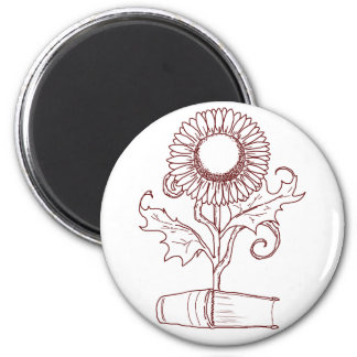 Flower and a book magnet