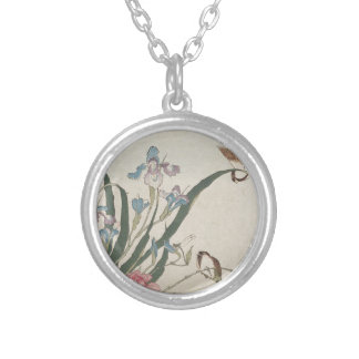 Flower and Birds Silver Plated Necklace