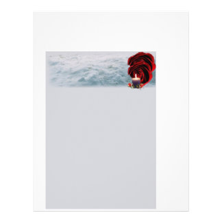 Flower and candle stationery 21.5 cm x 28 cm flyer