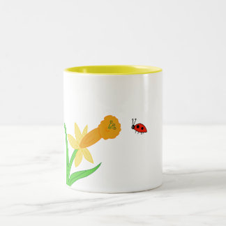 Flower and Lady Bug Mug